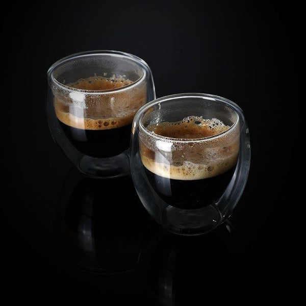 Brewster Double-Walled Espresso Cups - double cup - Udarely drinkware glassware barware cocktail mocktail coffee tea