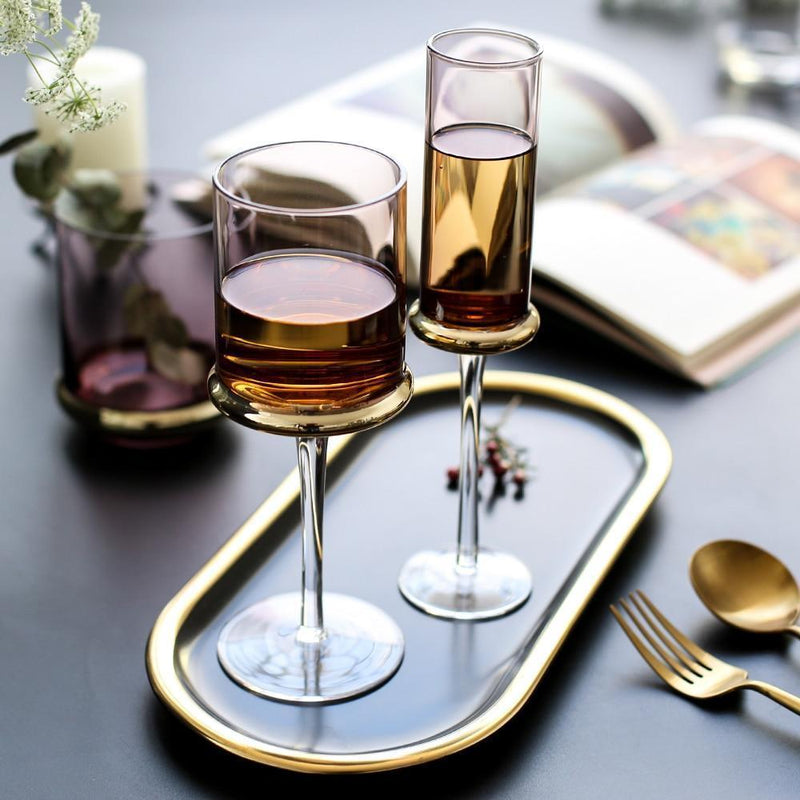 Calla Glasses - wine whiskey drink champagne premium - Udarely drinkware glassware barware cocktail mocktail coffee tea