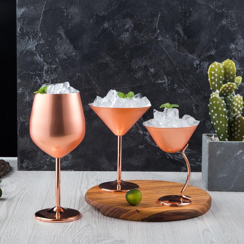 Copper Martini Glasses - drink copper cocktail - Udarely drinkware glassware barware cocktail mocktail coffee tea