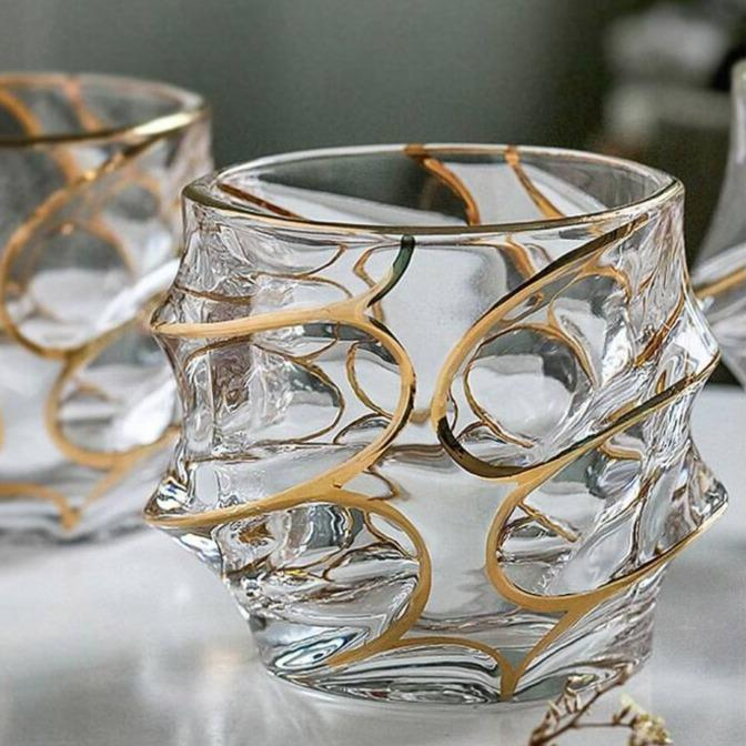 Duende Glasses - drink whiskey coffee - Udarely drinkware glassware barware cocktail mocktail coffee tea