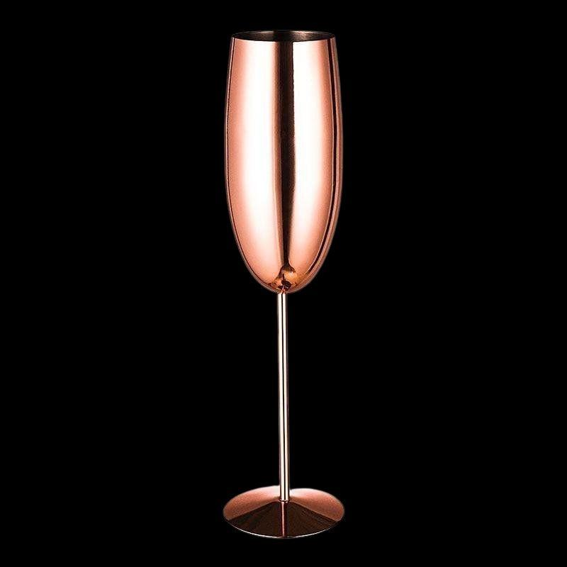 Finesse Stainless Steel Flutes - drink copper champagne - Udarely drinkware glassware barware cocktail mocktail coffee tea