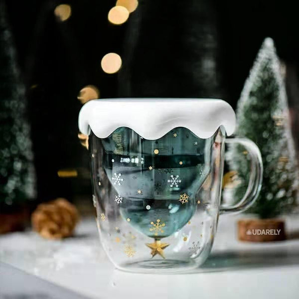 Fir Double-Walled Cup - mug double wine coffee - Udarely drinkware glassware barware cocktail mocktail coffee tea