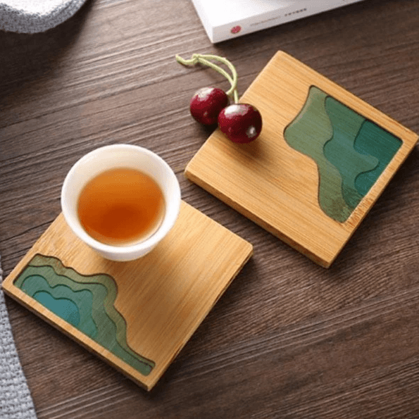 Lagoon Coasters - Accessories coaster - Udarely drinkware glassware barware cocktail mocktail coffee tea