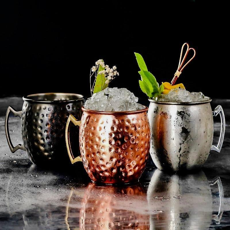 Moscow Copper Mugs - drink copper cocktail beer mug - Udarely drinkware glassware barware cocktail mocktail coffee tea