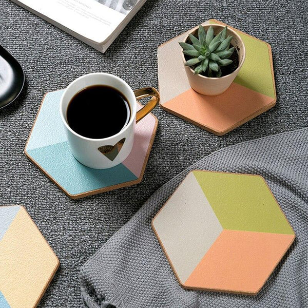 Pastelle Coasters - Accessories coaster - Udarely drinkware glassware barware cocktail mocktail coffee tea