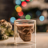Skull Glasses - coffee cocktail double - Udarely drinkware glassware barware cocktail mocktail coffee tea