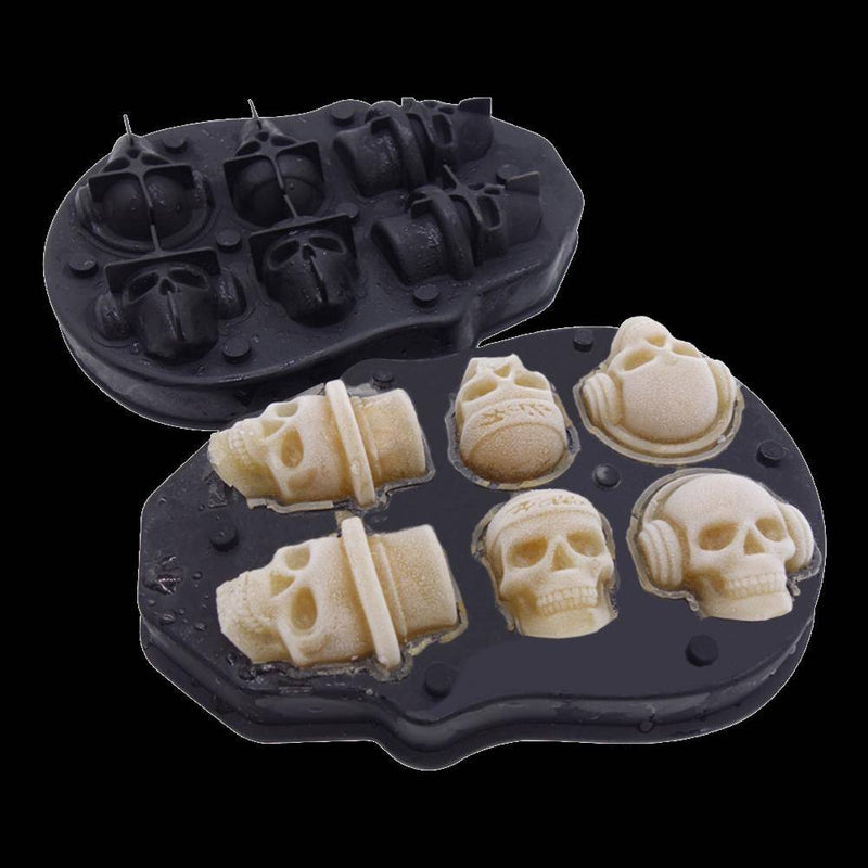Skull Ice Molds - accessories - Udarely drinkware glassware barware cocktail mocktail coffee tea