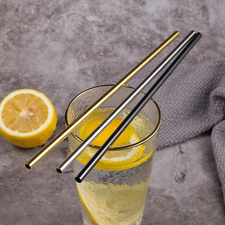 Stainless Steel Straws - accessories - Udarely drinkware glassware barware cocktail mocktail coffee tea