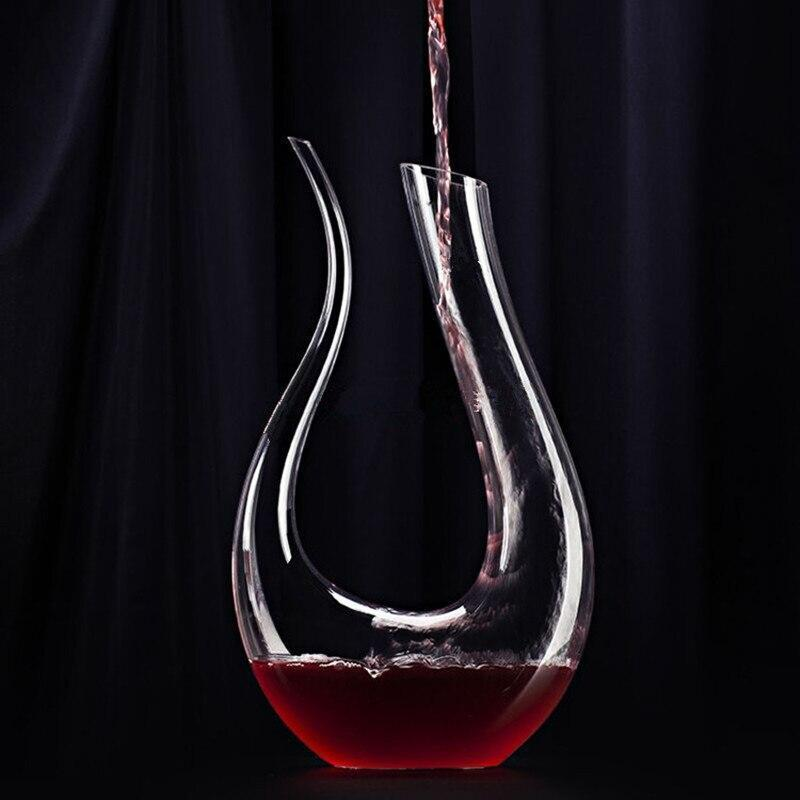 Swan Crystal Wine Decanter - drink wine - Udarely drinkware glassware barware cocktail mocktail coffee tea