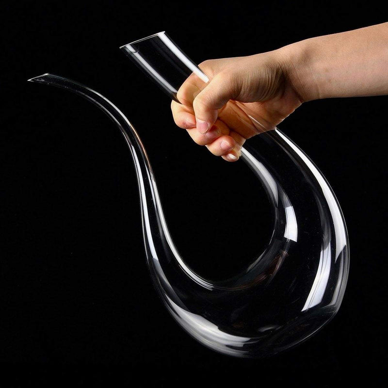 Swan Crystal Wine Decanter drink wine Udarely - UDARELY