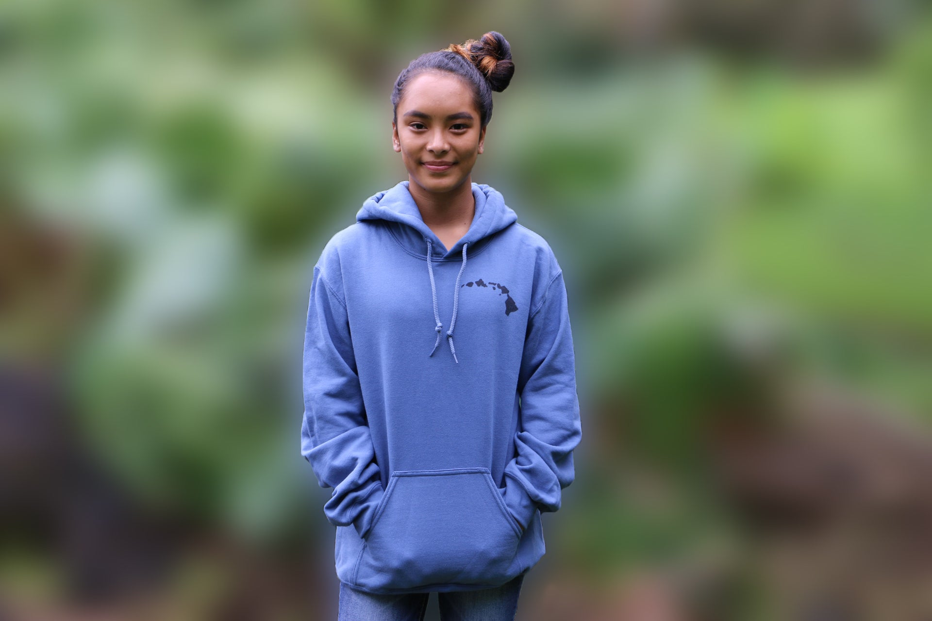 Hoodies: Healing Rain Hawaii- Indigo Blue