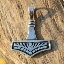 Load image into Gallery viewer, Handmade Mjolnir Pendant