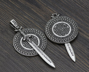 Sword and Shield Pendant