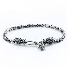 Load image into Gallery viewer, Silver World Serpent Bracelet