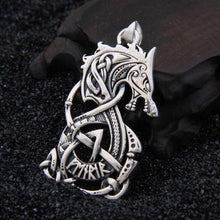 Load image into Gallery viewer, Silver Fenrir Pendant