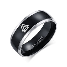Load image into Gallery viewer, Titanium Valknut Ring