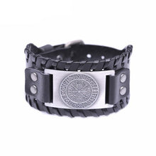 Load image into Gallery viewer, Leather Vegvisir Bracelet
