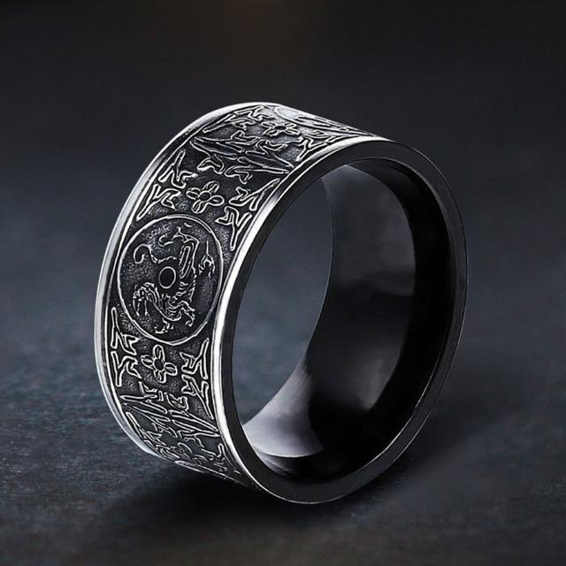 Stainless Steel Norse Ring