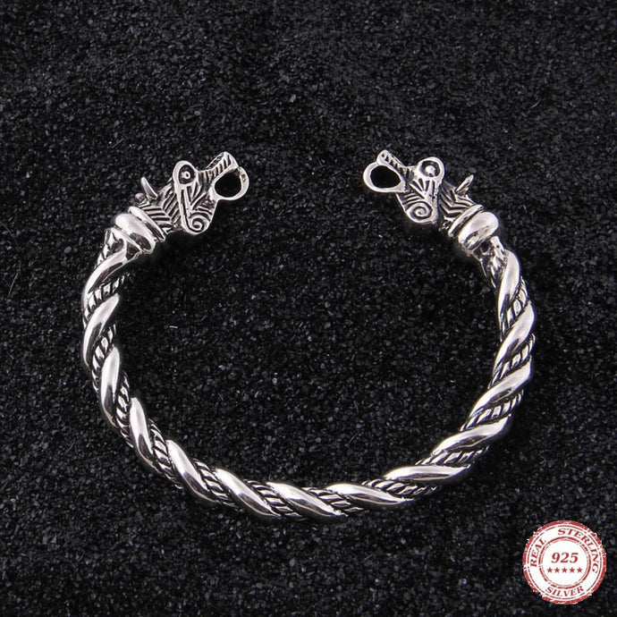 Silver Wolf Arm Ring