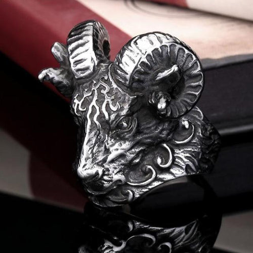 Ram's Head Ring