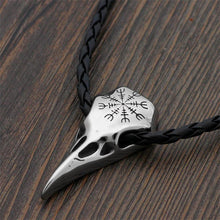 Load image into Gallery viewer, Raven Skull Necklace