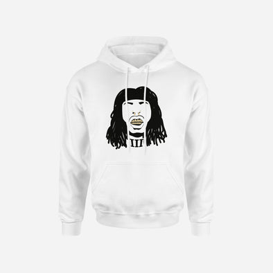 Faceoff White Hoodie