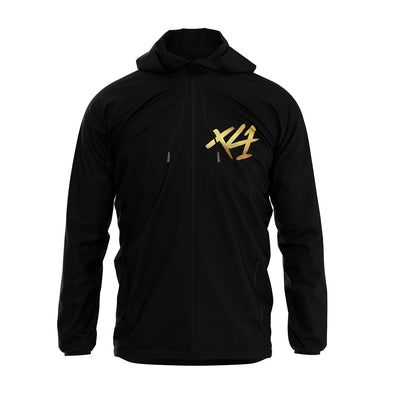 Black XLI Hooded Windbreaker