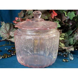 Pink Mayfair Glass Cookie Jar