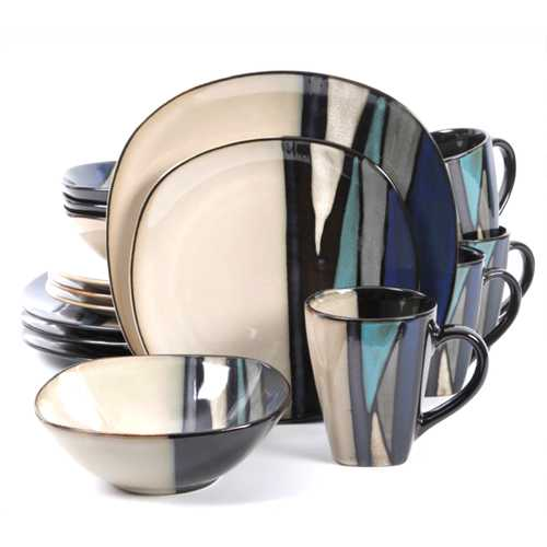 Gibson Elite Althea 16-Piece Dinnerware Set, Teal