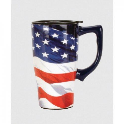 American Flag Travel Mug (pack of 1 EA)