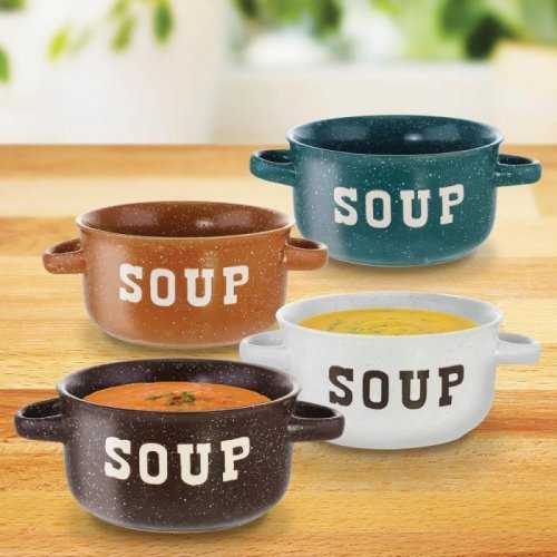 Set Of 4 Speckled Soup Bowls (pack of 1 SET)