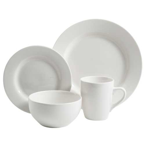 Gibson Gracious Dining 16 pc Hotelware Set made of Fine Ceramic in White