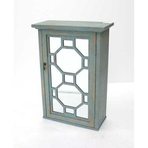Art Deco Wooden Mirror Cabinet with Single Door