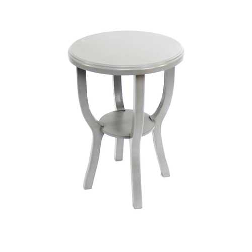 Country Cottage Style Light Grey Wooden Stool