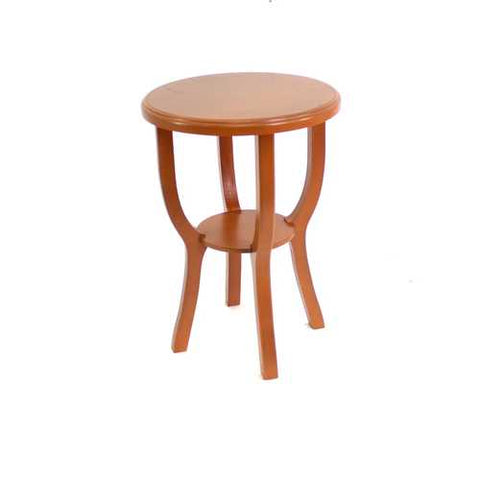 Country Cottage Style Bright Orange Wooden Stool