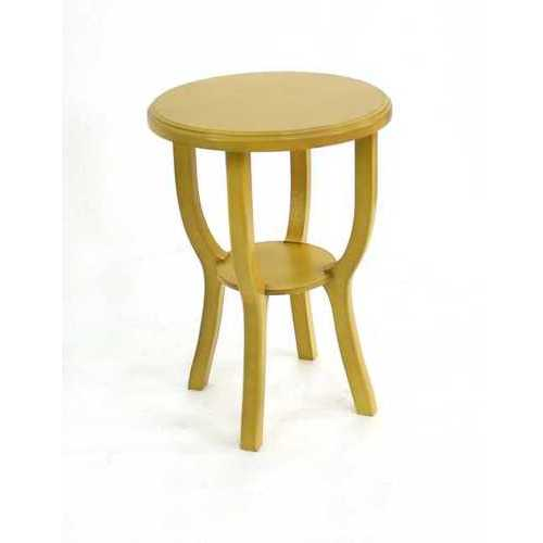 Country Cottage Style Yellow Wooden Stool