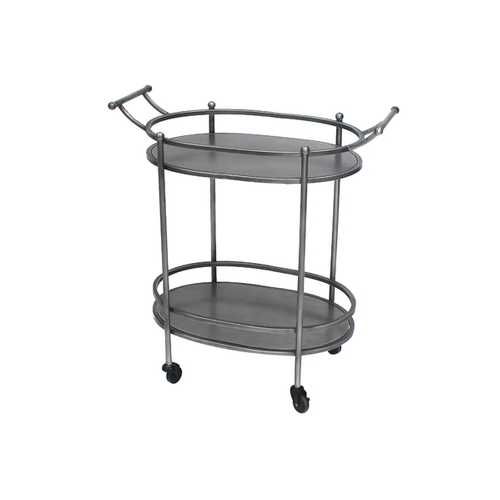 TETON HOME ANTIQUE BRONZE OVAL SERVICE CART - TD-018