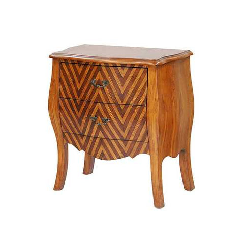 2-Drawer Bombay Cabinet - Mdf, Wood In Woodgrain Chevron