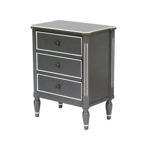 3-Drawer Accent Cabinet - Mdf, Wood In Gray