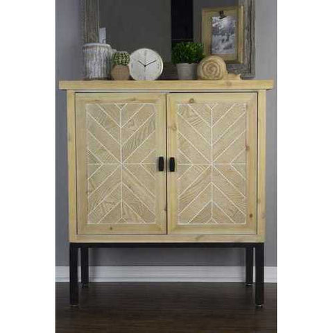 2-Door Parquet Sideboard - Iron Wood Mdf, Matte