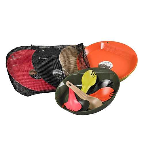 Wildo Just Eat Campware Set 6 Person Set, Hunting/Tactical Colors