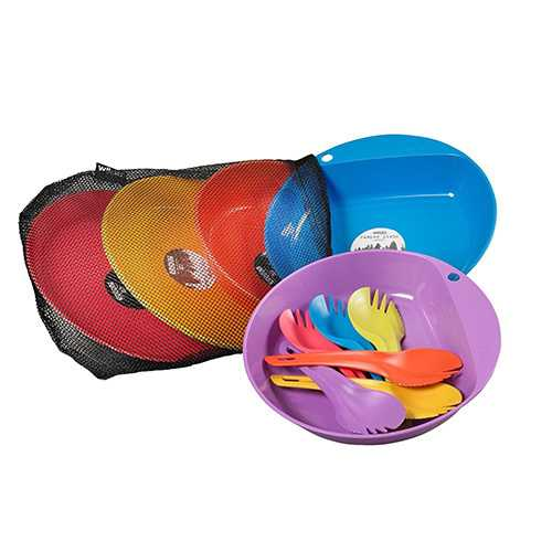Wildo Just Eat Campware Set 6 Person Set, Camping/Outdoor Colors