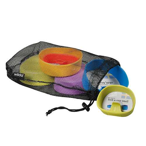 Wildo Fold-A-Cup Galore Campware Set Multi Person Set, Camping/Outdoor Colors