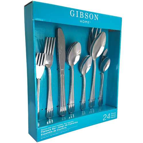 Gibson Avenham 24-Piece Flatware Set