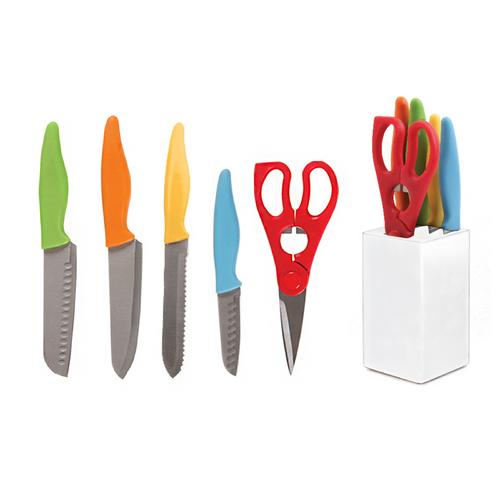 Gibson Colorsplash Primary Basics 6 pc Preparation Cutlery Set