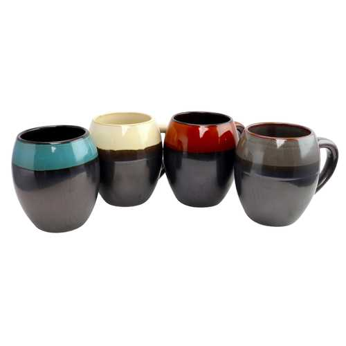 Gibson Home Soroca 19.5 oz Mug Set, Set of 4 Assorted Colors