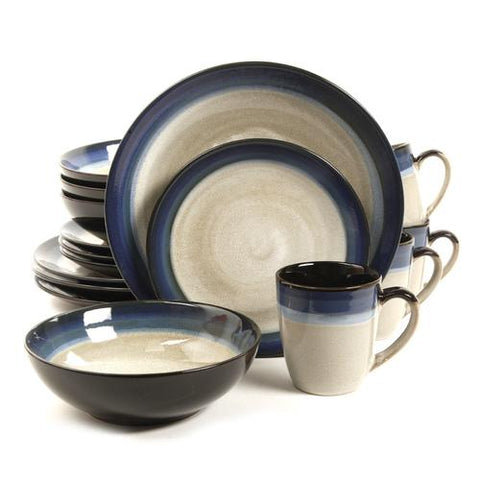 Gibson Couture Bands 16-Piece Dinnerware Set