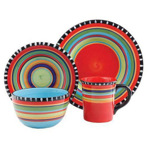 Gibson Pueblo Springs 16 pc Dinnerware Set