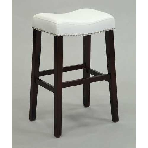 Bar Stool (Set-2), White & Espresso