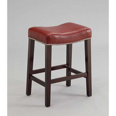 Counter Height Stool (Set-2), Red & Espresso